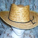 Unisex Straw Cowboy Cowgirl Hat in Perfect Condition
