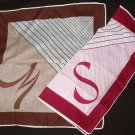 Two Handkerchiefs Letters M and S Vintage - As New