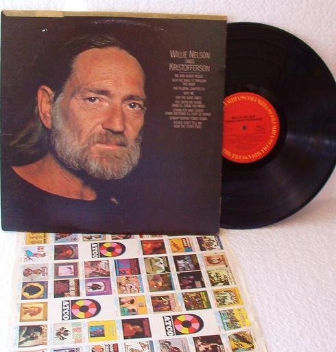 Willie Nelson Sings Kristofferson 1979 lp Album One Owner