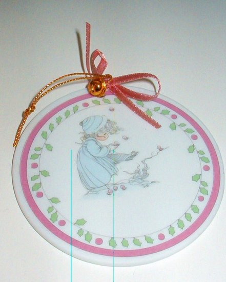 Enesco Precious Moments Holiday Porcelain Ornament 1990 New in Box