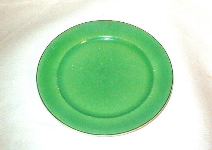 Bassett England Porcelon Green Sandwich Plate - Rare