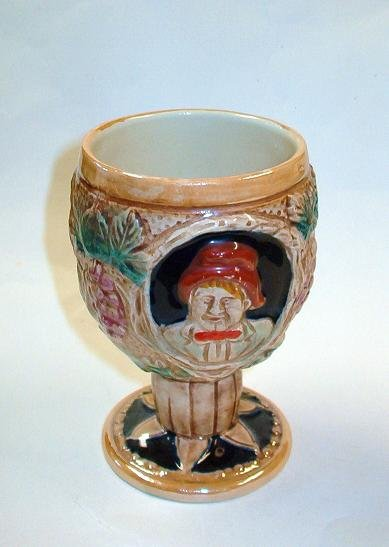 Lusterware Wine Goblet Peach Lustre Ware Exc Cond Vintage