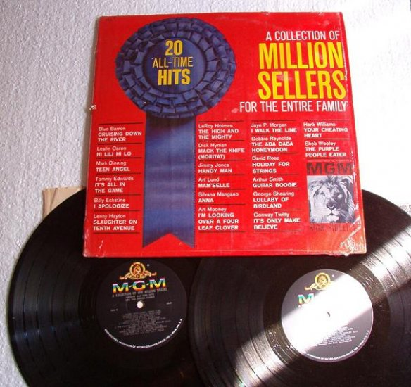 A Collection of Million Sellers For Entire Family 2 lps Oldies Rare Copye-7