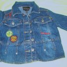 Fubu Denim Jean Jacket Girls Sz 4 with Stretch Exc Cond
