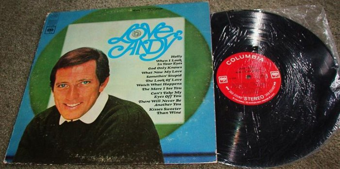 Love Andy - Andy Williams lp