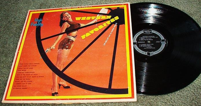 Western Favorites - Jim Malloy and Range Riders lp c4003 Record One Owner