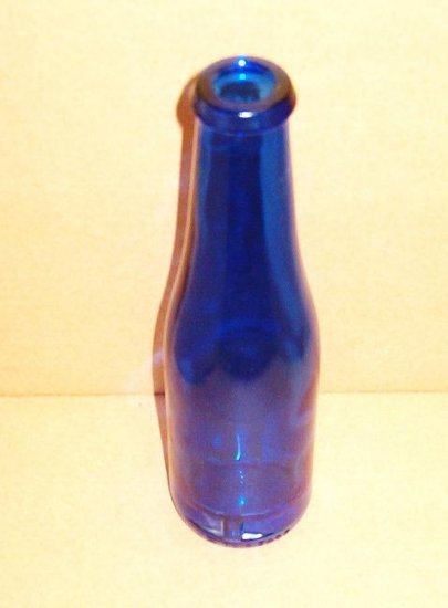 Cobalt Blue Bottle 8 Inches Tall in Excellent Condition