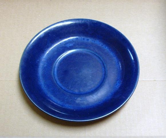 Antique Dark Blue Saucer
