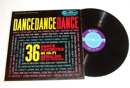 Dance Dance Dance 36 Favorites - Geraldo 1958 lp rca Camden
