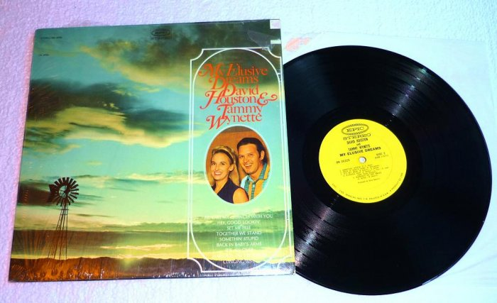 David Houston and Tammy Wynette - My Elusive Dreams lp bn26325