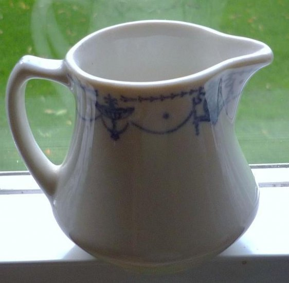 Blue on White Creamer in Perfect Condition Elegant and Vintage