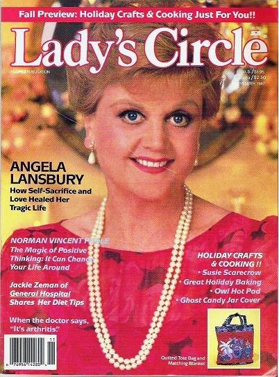 Ladys Circle Magazine Nov 1987 with Angela Lansbury