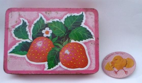 Metal Tin Box by Interpur Hong Kong - Strawberry Decor Also Celebrate Spring Pin