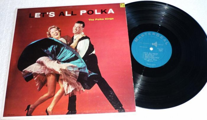 Lets All Polka by The Polka Kings ms90 lp Masterseal Rare Album