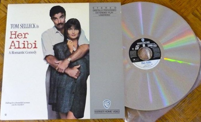 Her Alibi with Tom Selleck Comedy Laser Disc Laserdisc