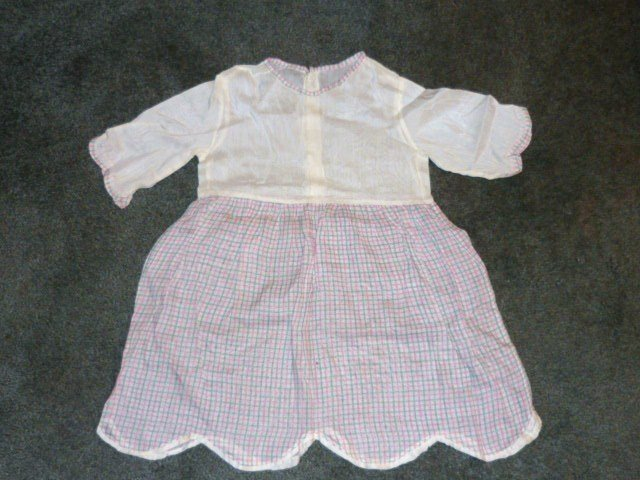 Vintage 1940s 50s Childs Dress Organza and Cotton Exc Cond Handstitched