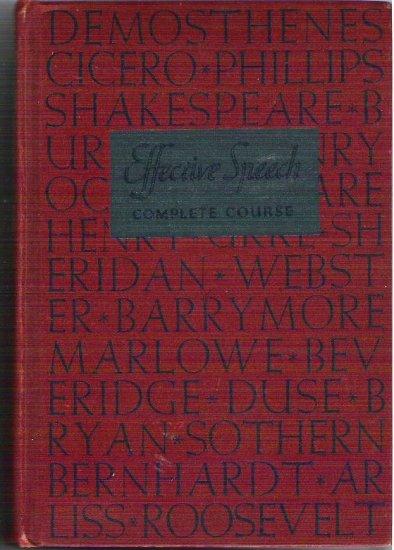 Effective Speech Complete Course 1937 Hardcopy Gough Rousseau Plus