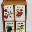 Vintage 1950s Spice Rack Fruit Decor Japan Ceramic 4 Containers