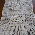 Vintage Table Runner Hand Crocheted 15 x 52