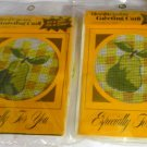 Make Your Own Needlepoint Greeting Card Kit New in Package - Pear Pattern