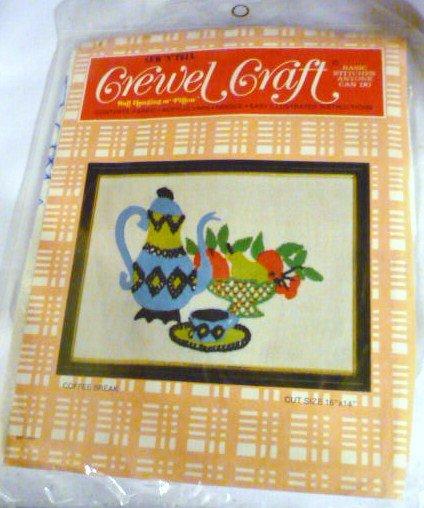 Crewel Craft Kit Coffee Break Motif by Sew n Tell Easy Instructions