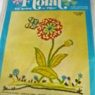 Sew n Tell Floral Kit - Make Your Own Wall Hanging or Pillow 14 x 16