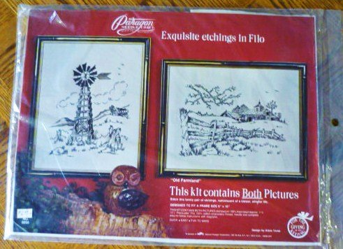 Paragon Etchings in Filo 2 Old Farmland Embroidery Kit