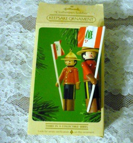 Hallmark Clothespin Soldier 1984 Keepsake Holiday Ornament