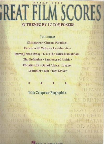 Great Film Scores 37 Themes by 17 Composers 0793552508