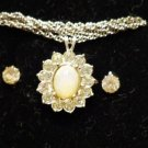 1990 Avon Jewelry Opalesque Necklace and Earrings Set New in Box
