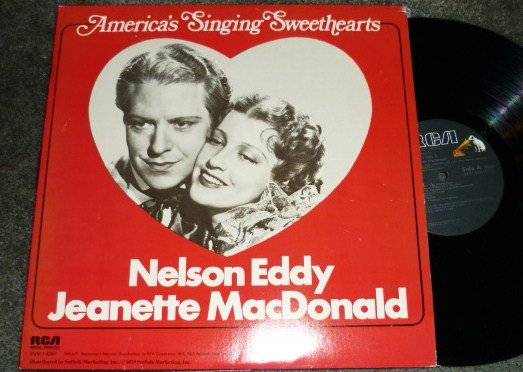 Americas Singing Sweethearts 1978 lp Nelson Eddy Jeanette MacDonald
