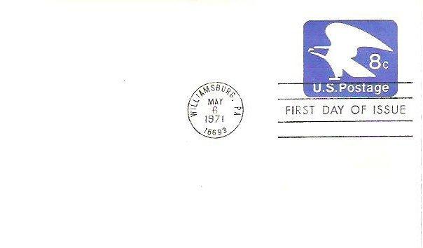May 1971 fdi Williamsburg Pa Machine Canceled Unaddressed