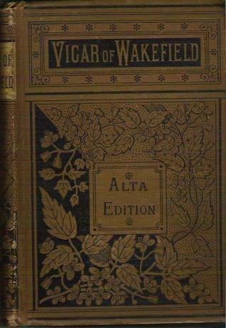 Vicar of Wakefield Alta Edition - Oliver Goldsmith Pre 1900 Antique Book