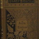 Vicar of Wakefield Alta Edition - Oliver Goldsmith Pre 1900 Antique Book