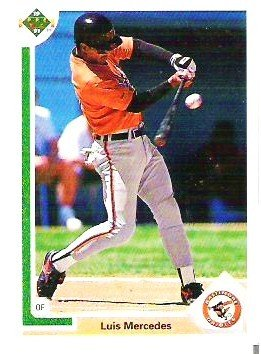 Baltimore Orioles Luis Mercedes 1991 Upper Deck Card 745