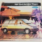 Brochure Pamphlet for a 1987 Ford Aerostar Wagon
