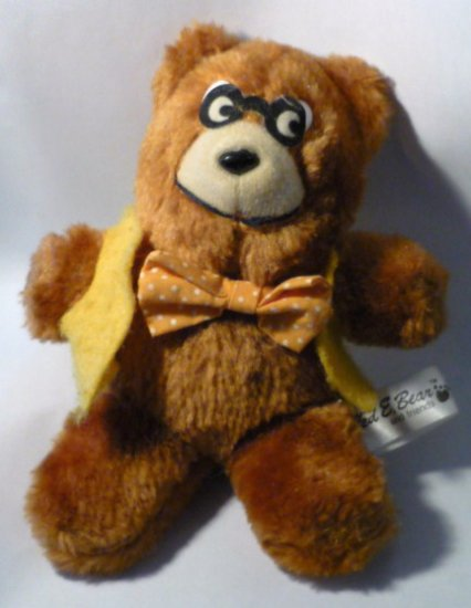 Ted E. Bear and Friends Plush School Bear 1980s Rare