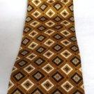 Roundtree and Yorke Silk Tie Black White Gold Handmade