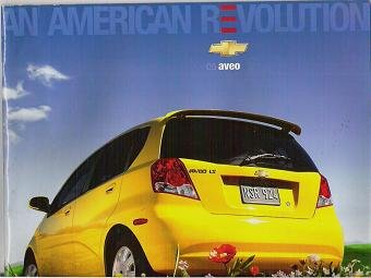 2005 Aveo by Chevrolet Pamphlet / Brochure Original