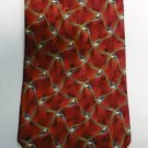 Roundtree and Yorke Silk Tie Red Blue Tan Handmade