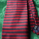 Roundtree and Yorke Silk Tie Red Navy Handmade Italy