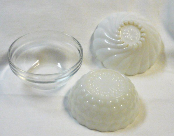 Three Berry Bowls White Milk Glass and Clear Glass Anchor Hocking + Collectible