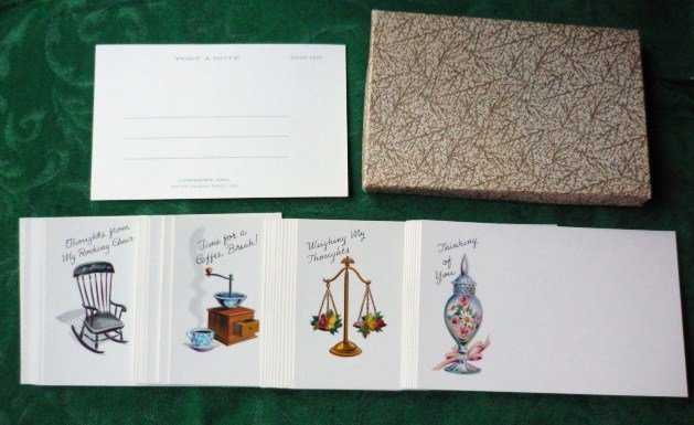 Lot of 38 Post a Note Postcards by Current w/Box 1960s Vintage