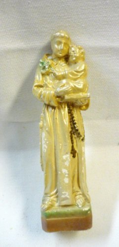 Infant Jesus and St Anthony of Padua Statue Made in France Chalkware 1930s?