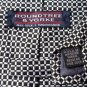 Roundtree and Yorke Silk Tie Black and White Handsewn
