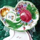 Vintage Dessert Plate Handpainted Floral Design w Cup Area