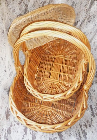 3 Baskets for Storage for Magazines - Crafts - Yarn - Towels