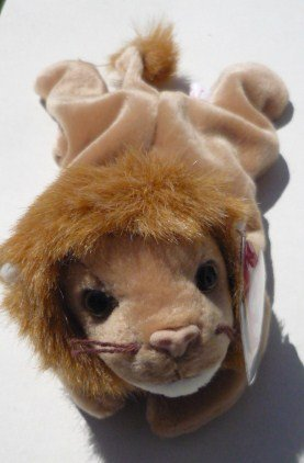 Roary the Lion TY Beanie Baby Retired Original Mint
