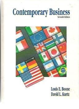 Contemporary Business by Louis Boone David Kurtz 0030746949