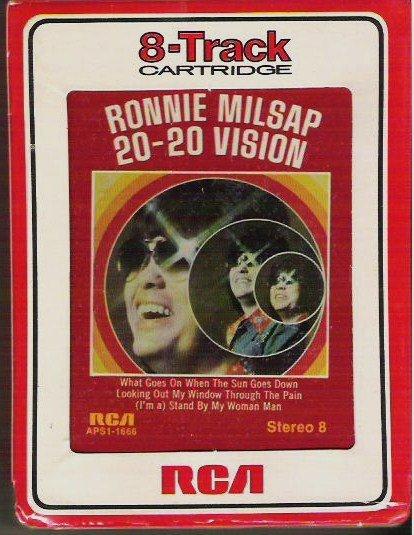 Rare Ronnie Milsap 20-20 Vision 8 Track Cartridge aps1-1666 Sealed Original